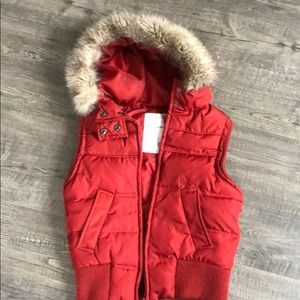 Aeropostale hooded puffy vest.
